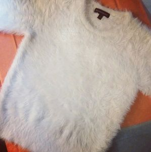 Banana Republic Fuzzy White Sweater